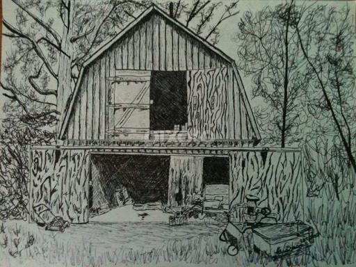 Old Barn By Alexander Jackson