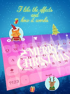 Merry Christmas Keyboard Theme for Girls - náhled