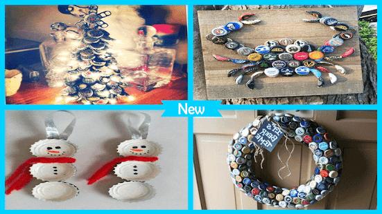 Cute Styrofoam Bottle Cap Christmas - náhled