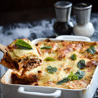 Chipotle Beef and Bechamel Lasagna