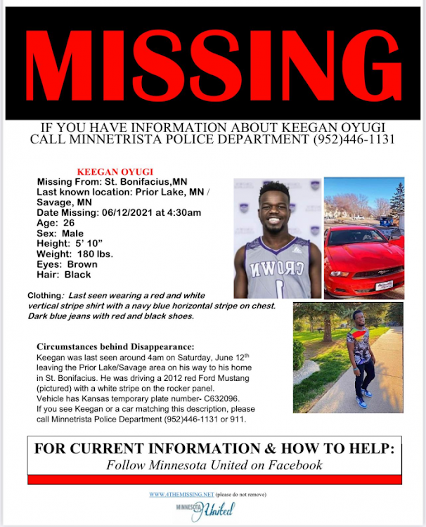 The missing Kenyan./COURTESY