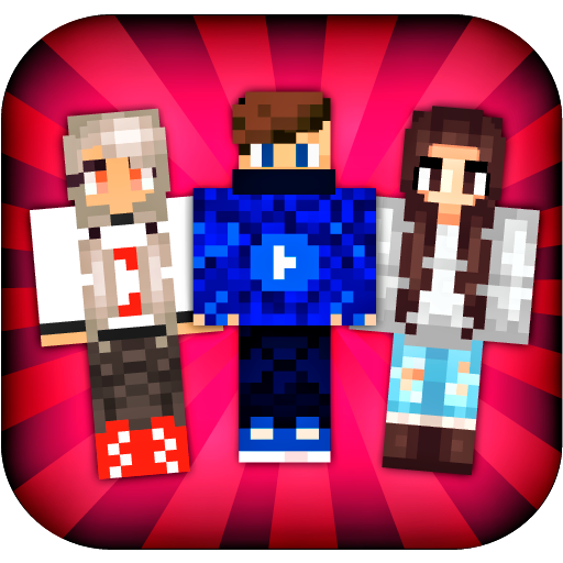 Skins YouTubers For Minecraft PE App Apk Free Download For Android - Skins para minecraft pe para download