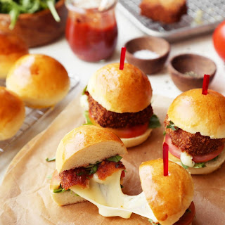 Fried Mozzarella Sliders
