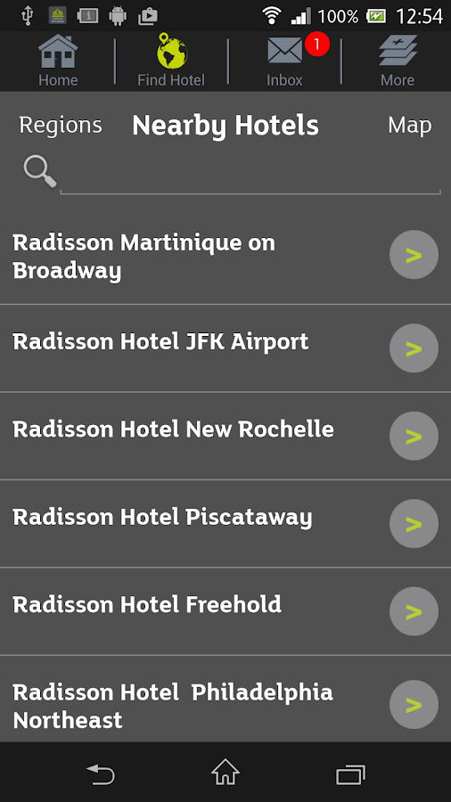 Radisson iConcierge- screenshot