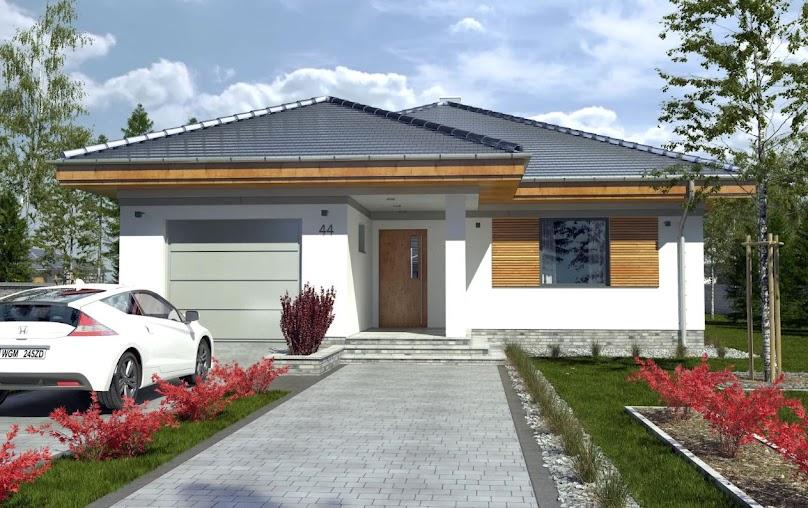 Projekt domu Hubert z garażem 1-st. A