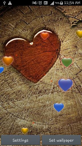 Love Heart Sparkle Wallpaper