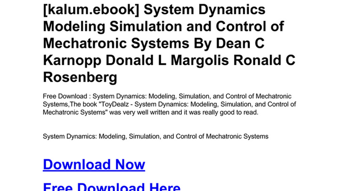system-dynamics-modeling-simulation-and-control-of-mechatronic