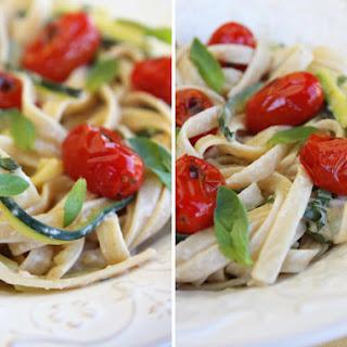 Zucchini Ribbon Pasta with Creamy Lemon-Basil Sauce
