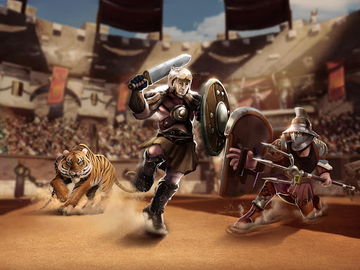 Gladiator Heroes Clash: Fighting and strategy game  screenshots 12