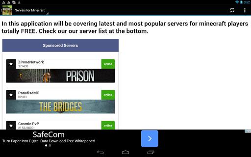 Servers for Minecraft Pe|玩書籍App免費|玩APPs