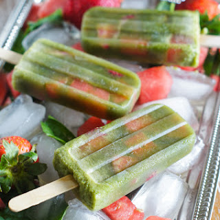 Healthy Spinach Watermelon Popsicles