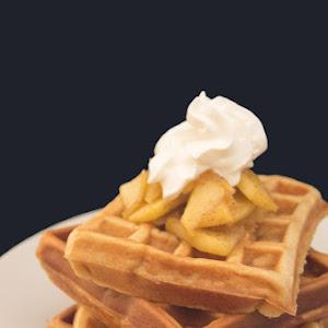 Apple Waffles with Cinnamon