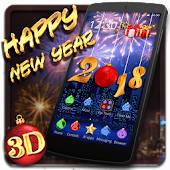 Happy New Year 2018 3D Theme