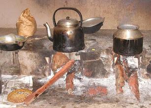Photo: Guru Bawa Ashram Kitchen Cooking Area. Jaffna Sri Lanka 2004
