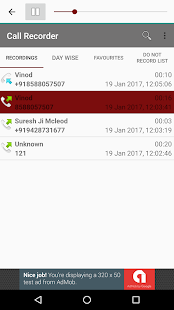 Call Recorder - Automatic screenshot