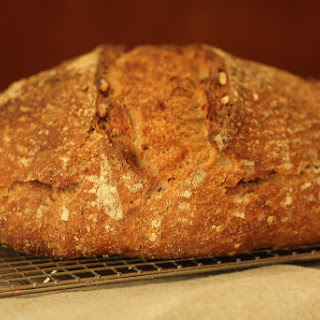 Whole Wheat Sourdough with Toasted Walnuts and Cracked Wheat