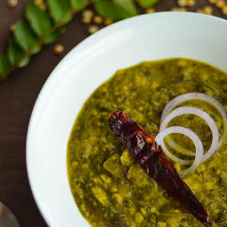 Creamy Spinach Curry with Lentil