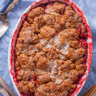 Healthy Easy Strawberry Cobbler.