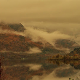 Storm over Loch Lomond by Gordon Westran - Landscapes Cloud Formations ( water, clouds, scotland, mountain, trees, loch,  )