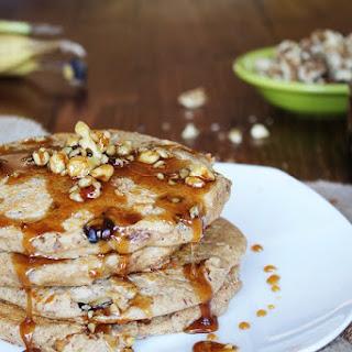 Banana Bread Pancakes Recipe with Caramelized Walnut Syrup