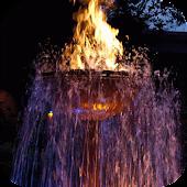 Fiery fountain Live Wallpaper