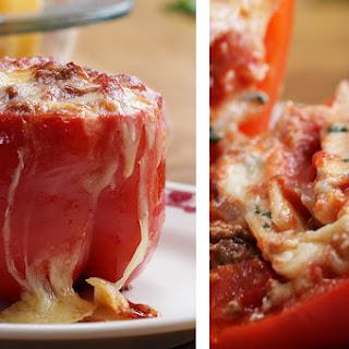 Lasagna-Stuffed Peppers.