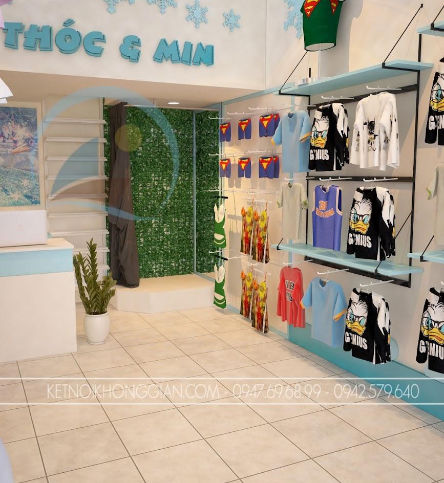 thiết kế cửa hàng thời trang trẻ em đẹp