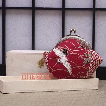 紅白鶴口金包