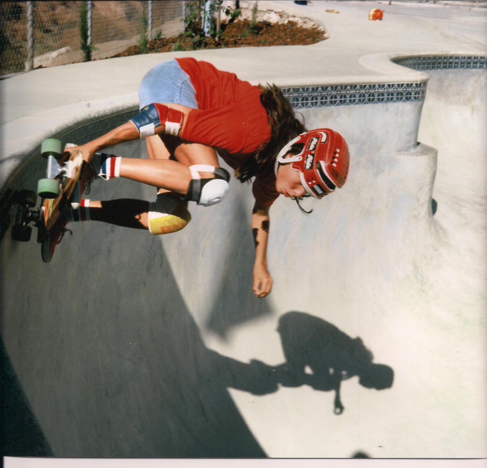 Photo: Carving the coping at Spring Valley Skate Park