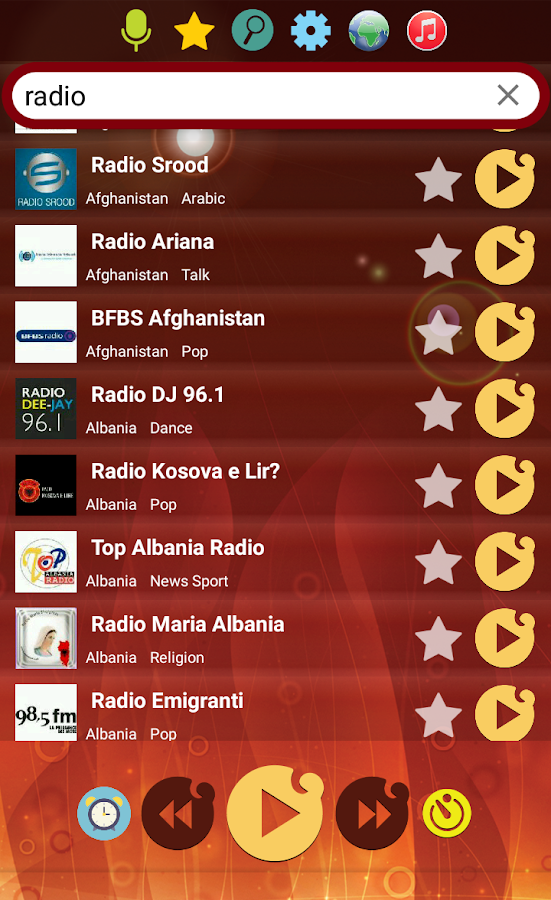 World Radio Online- screenshot