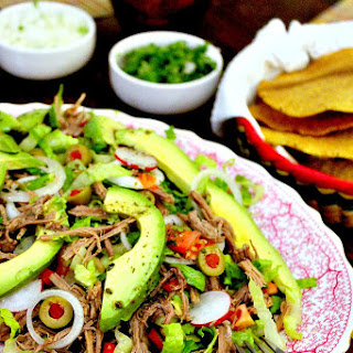 Salpicon, Shredded Beef Mexican Salad