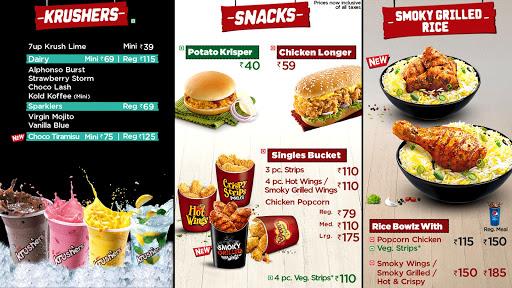 KFC menu 1