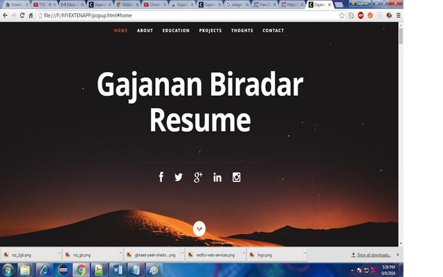 Gajanan Biradar Resume