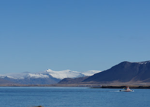 Photo: Looking north across a fjord toward Esja.