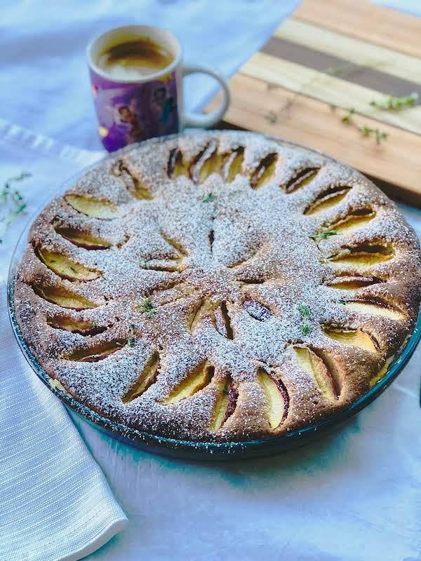 Peach, Almond And Thyme Tart Recipe