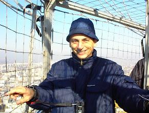 Photo: Léghajóban Budapest felett 2003-ban