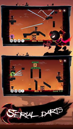 Shadow Stickman Ninja-legends war shooting battle APK MOD – Pièces de Monnaie Illimitées (Astuce) screenshots hack proof 1