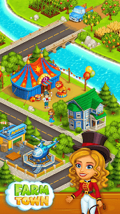 Farm Town: Happy farming Day & food farm game City 4