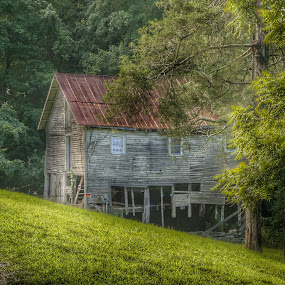 Barely standing by Debra Graham - Buildings & Architecture Decaying & Abandoned ( old barn,  )