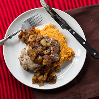 Pork Chops with Ginger Fried Apples