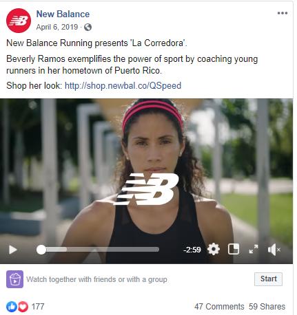 Social media post ideas – New Balance shares an inspiring video story