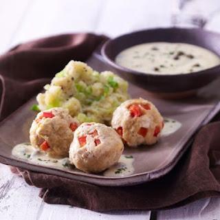 Tofu Balls with Caper Sauce