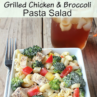 Grilled Chicken and Broccoli Pasta Salad.