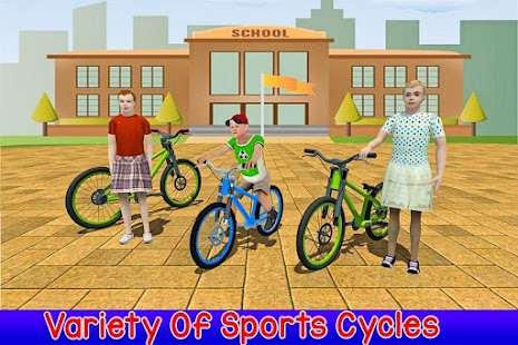 Kids Bicycle Rider School Race- screenshot thumbnail