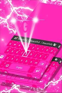 Pink přizpůsobení klávesnice - náhled