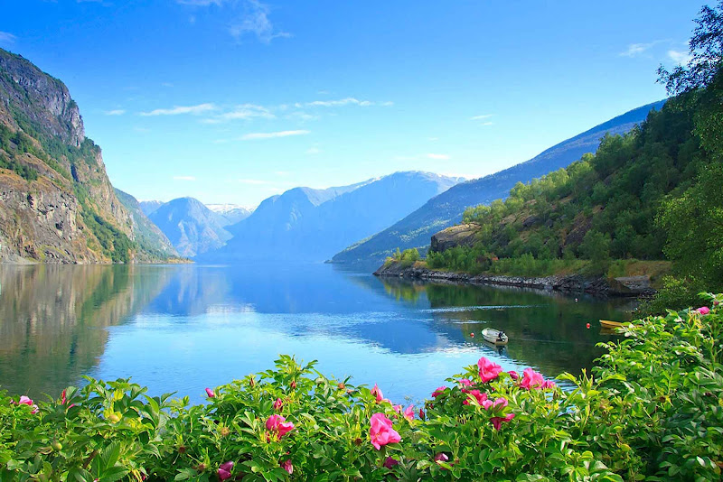 Summer in Norway's Aurlandsfjord is simply brilliant.