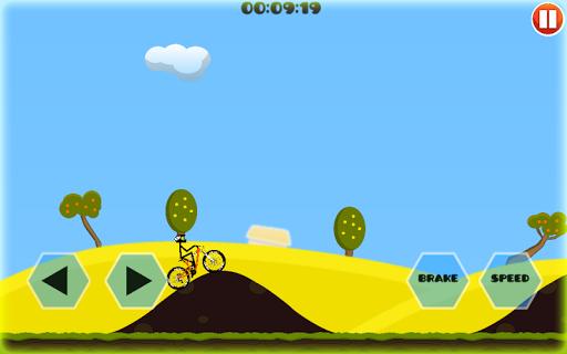 自行车爬上山