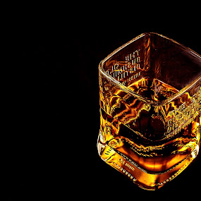 Birning Fire by Dmitriev Dmitry - Food & Drink Alcohol & Drinks ( whiskey, color, alcohol, drink, glass, light, fire )