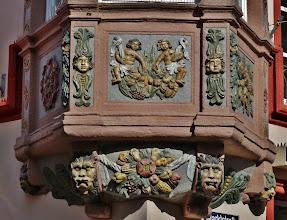 """Photo: Erkerverzierung  an der Kreuzung """"Vier Türme"""""""