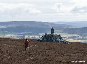 Photo: Elaborate Cairn near Summit of Benaquhallie